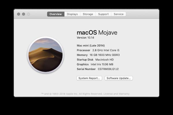 Screenshot of Mac version